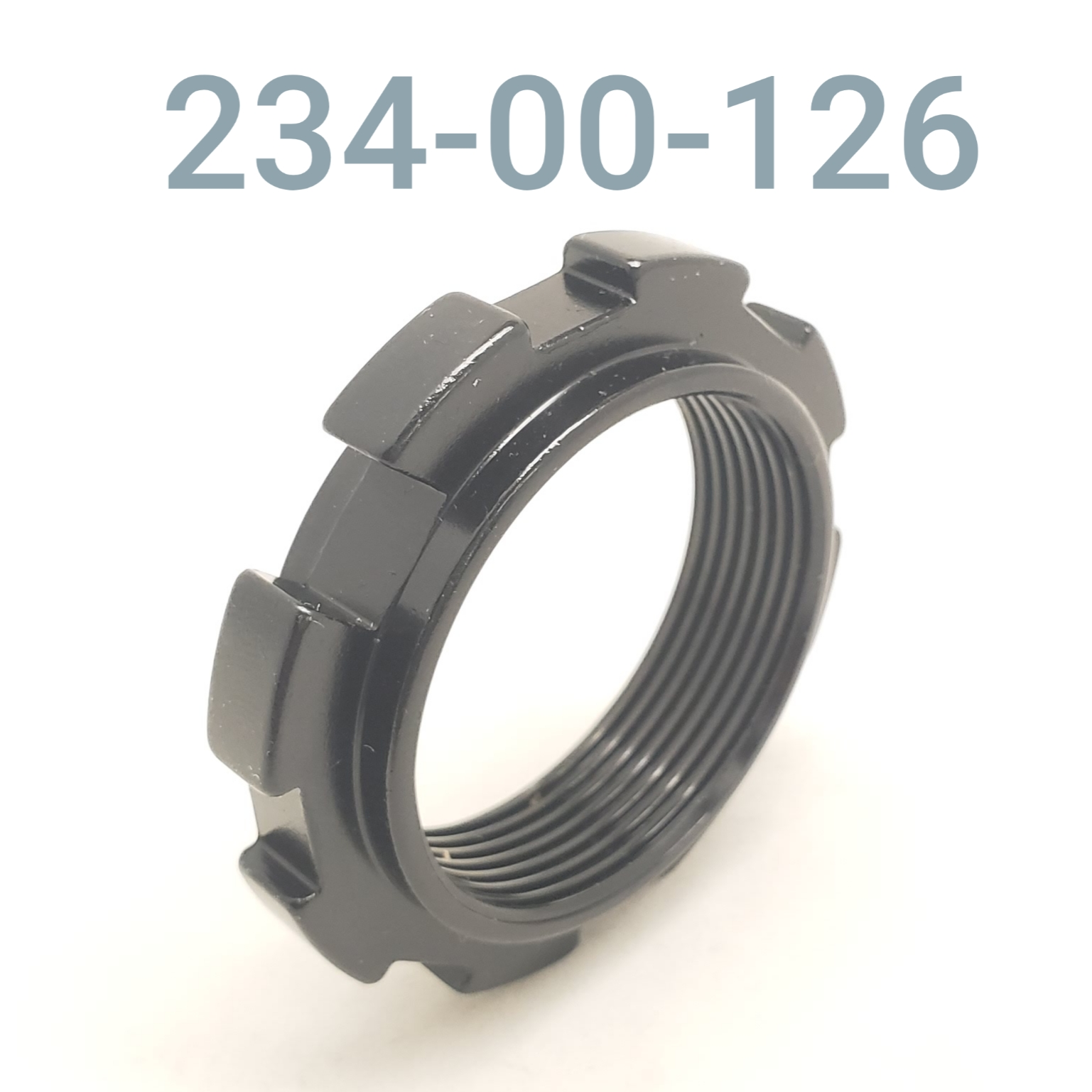 PRELOAD RING, W/ TAB SLOT, ALUM. BODY, BLACK
