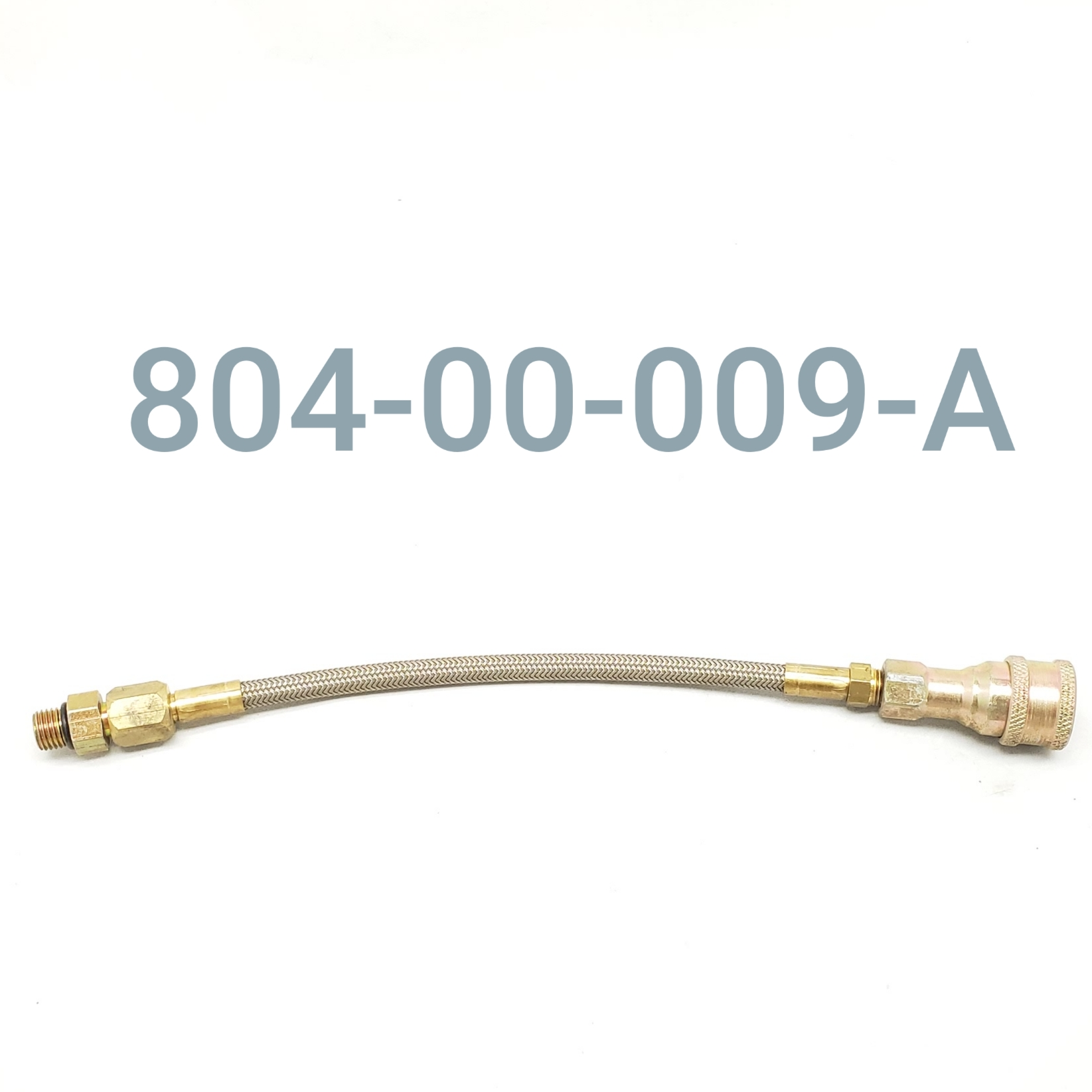 "HOSE ASSY 8"" (FJIC W/90 DEG. ORB  TO F. QUICK DISC.)"