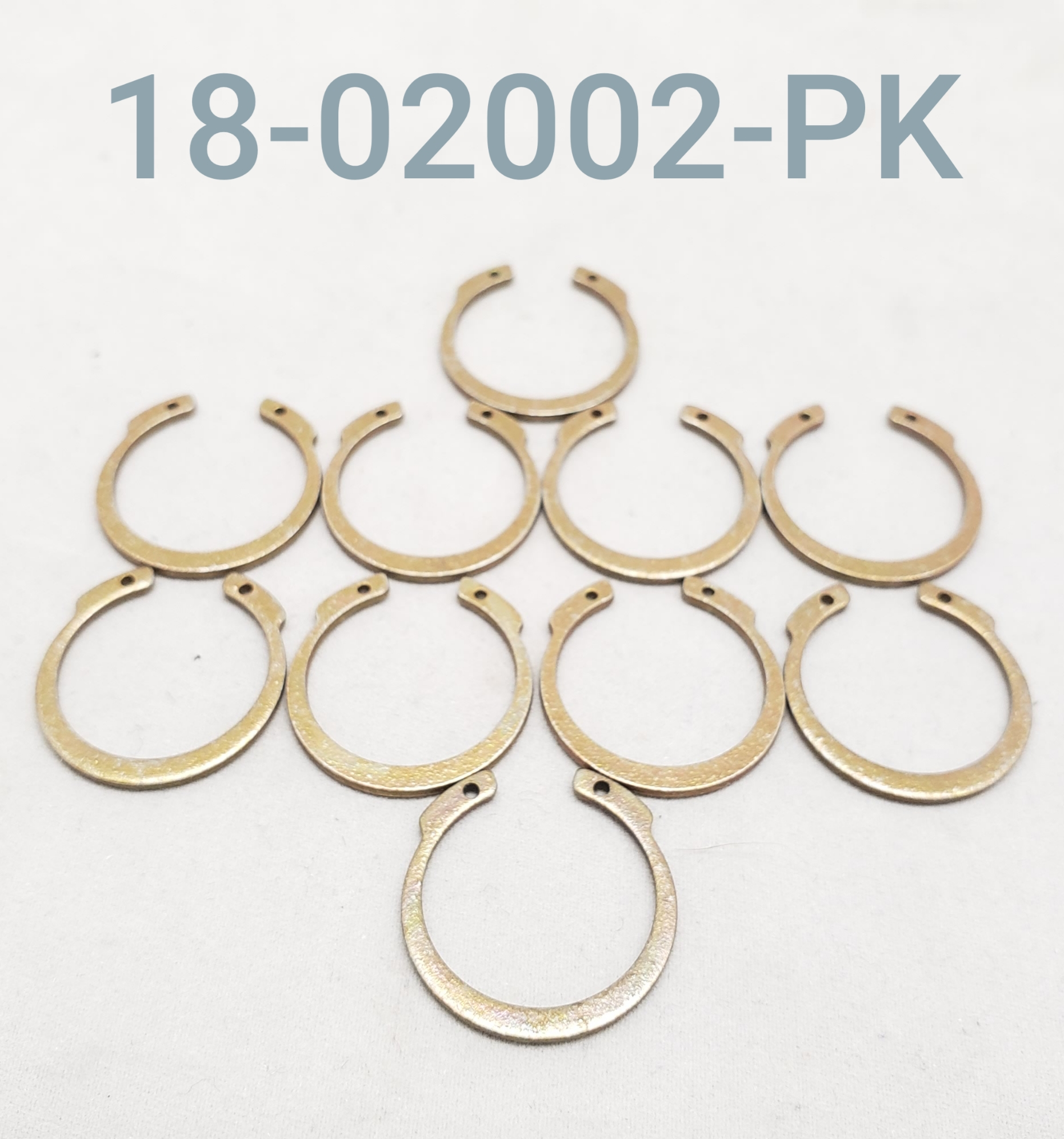 "SNAP RING, FIST 1/2"", PAK OF 10"